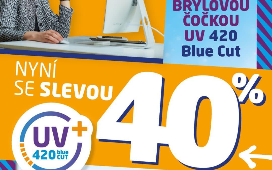 -40 % na skla s ochranou proti modrému světlu