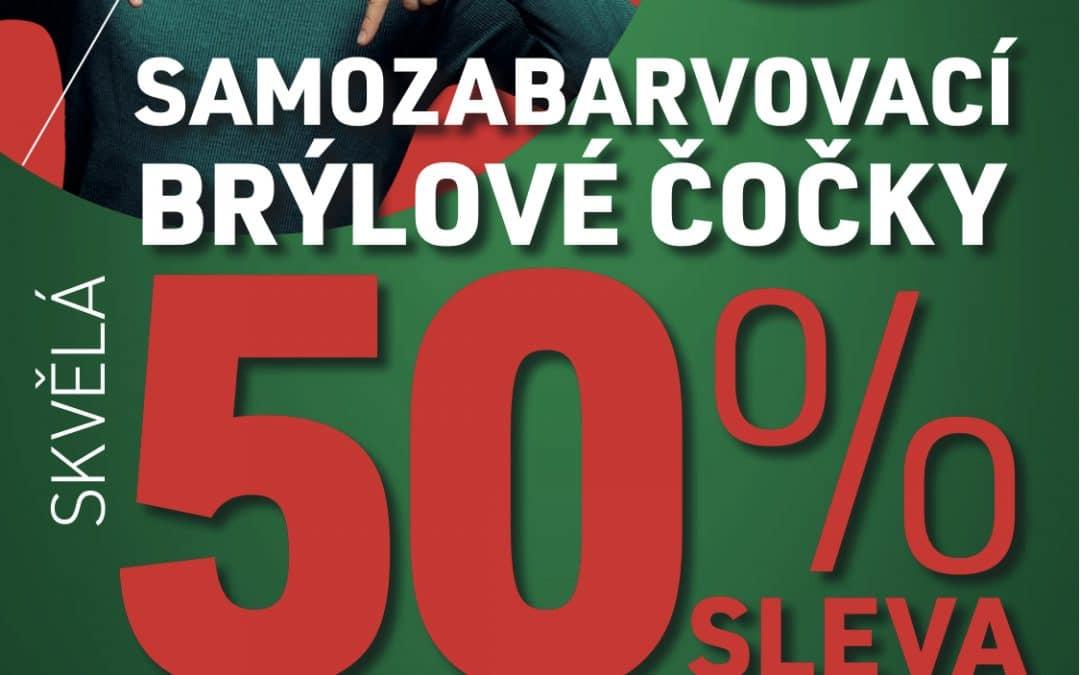 -50% na samozabarvovací skla!