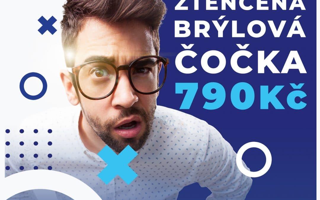 Ztenčená brýlová čočka za 790 Kč