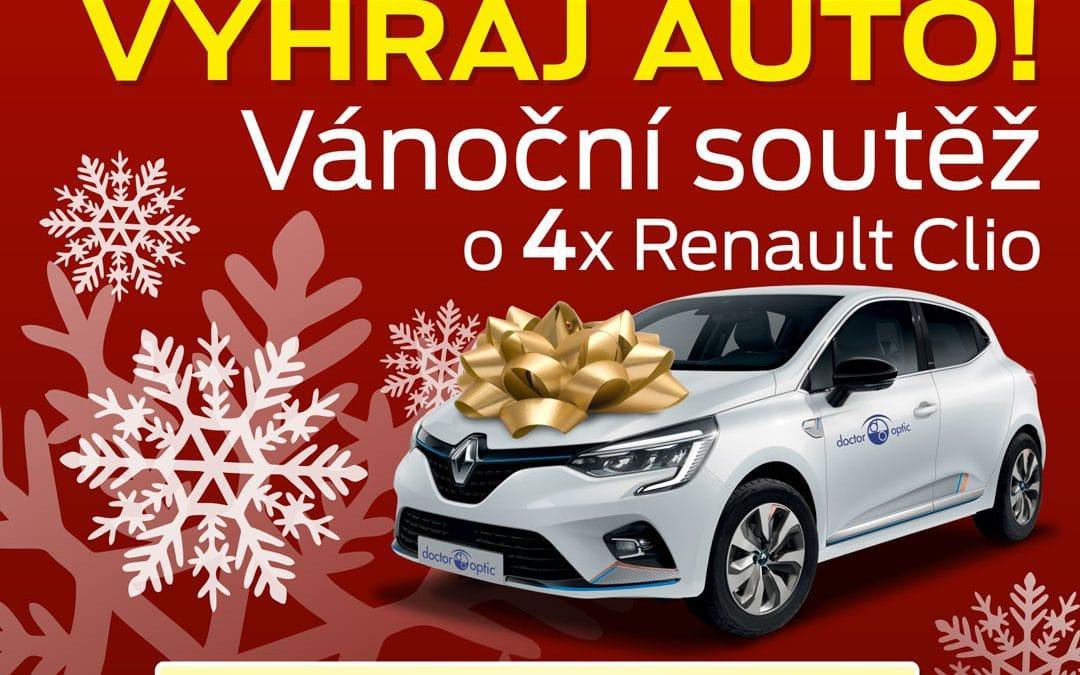 Vánoční soutěž o 4 vozy Renault Clio!